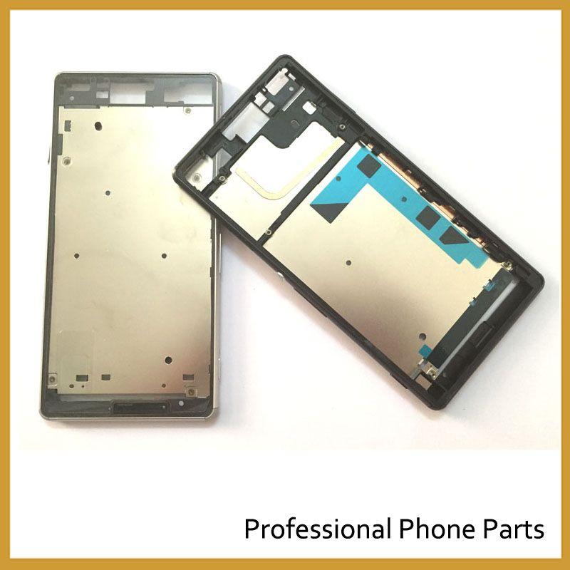 Noir/blanc Pour Sony Xperia Z3 L55 L55w D6603 D6653 Cadre Lunette Plaque Châssis Logement avec de La Poussière De Couverture Pièce de rechange