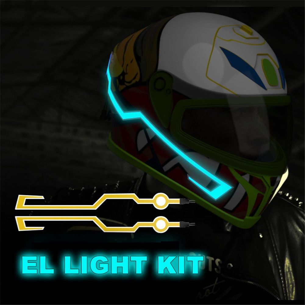 Ready Stock Motorcycle Helmet EL Cold Light Mod Kit Tron Helmets Mode Night Time Riding Signal Flashing Lights strip Bar DIY