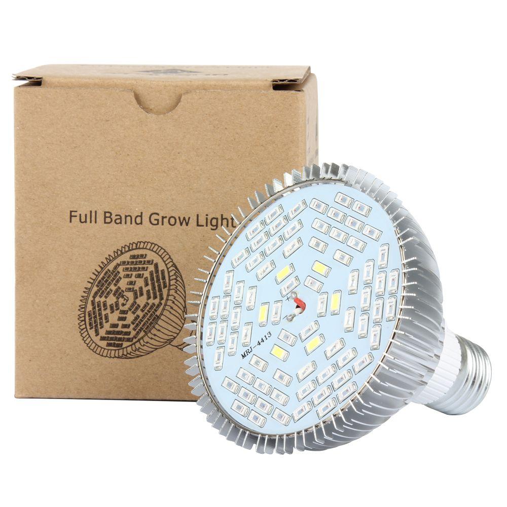 1 PCS E27 30 W 50 W 80 W Led Élèvent La Lumière Plein Spectre AC85-265V Usine hydroponique LED Lampe Croissance Intérieure LED Ampoule pour Fleur Légumes tente