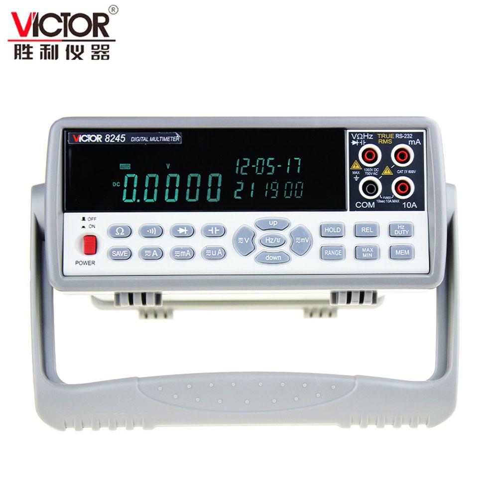 VICTOR VC8245 1000 v 4 1/2 Desktop Digital Multimeter präzision Bench desktop Multimeter multimetro Ture RMS USB tester digital