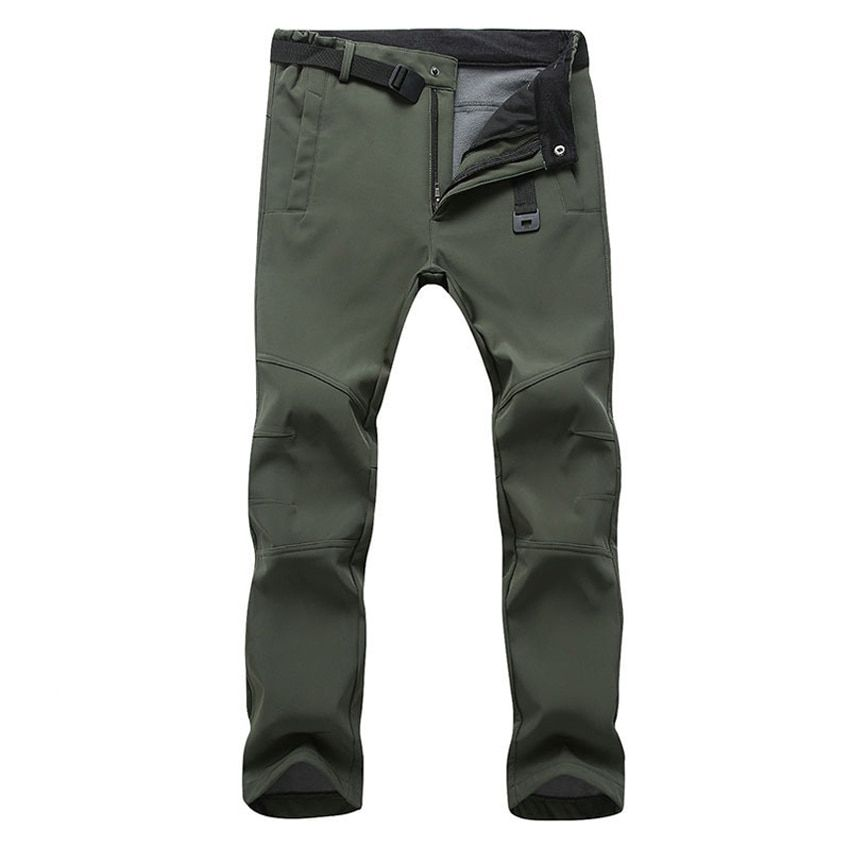 Mountainskin New Men's Winter Softshell Fleece Pants Outdoor Waterproof Hiking Camping Trekking Skiing Male Sport Trousers MA152