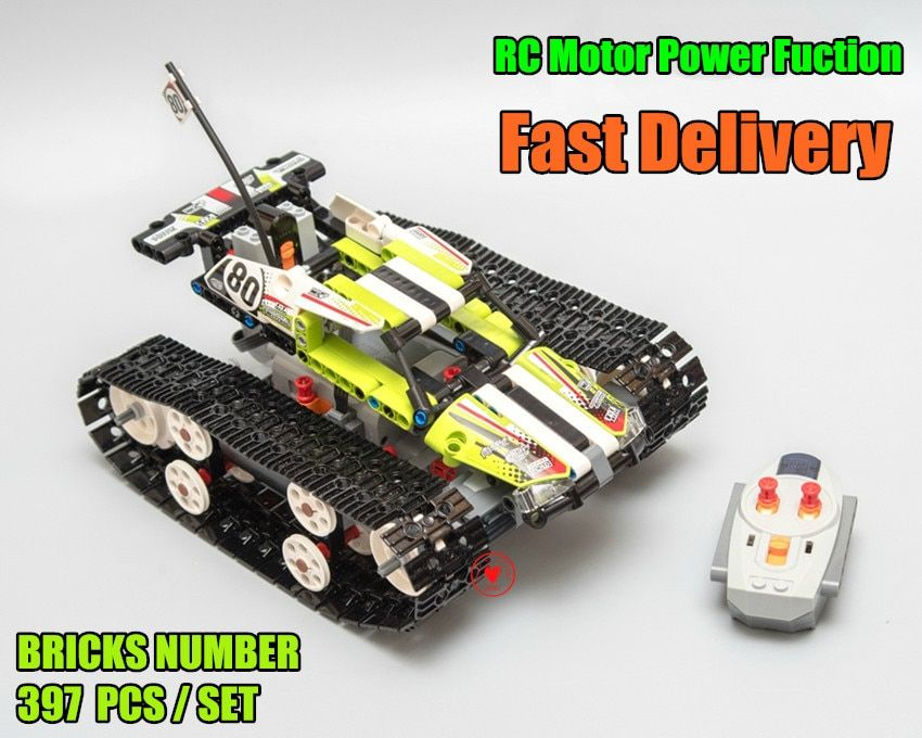 Technic RC TRACKED RACER car Electric Motor Power Function fit legoings technic 42065 city Building Block bricks Model kid gift