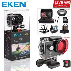 Оригинал екеn H9 H9R со сверхвысоким разрешением Ultra HD, 4K 30fps экшн Камера с водонепроницаемым чехлом и возможностью погружения на глубину до 30 м ...