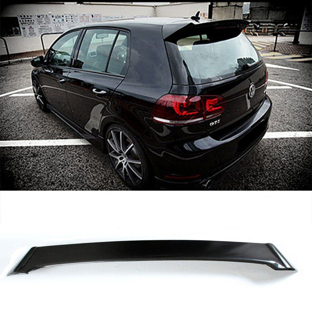 Golf 6 GTI O Styling Carbon Fiber Rear Roof Lip Spoiler Wing for Volkswagen 2010-2014