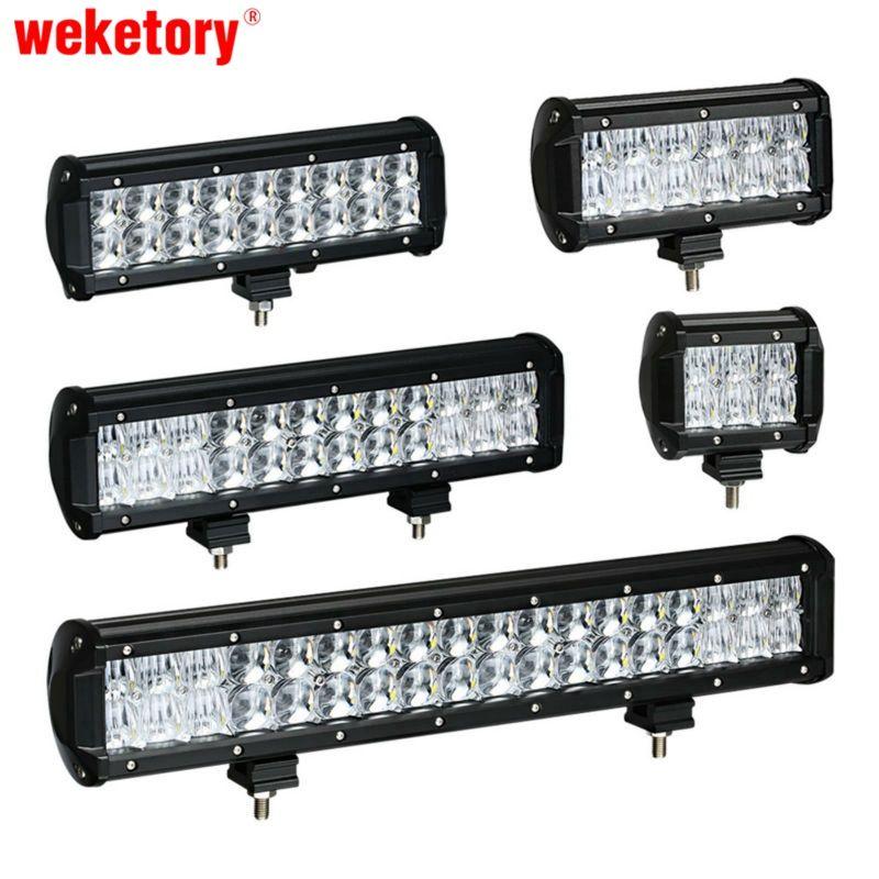 Weketory 4 6.5 9.3 12 17 дюймов 30 Вт 60 Вт 90 Вт 120 Вт 180 Вт 5D светодиодный свет бар для трактора лодка Offroad 4WD 4x4 грузовик внедорожник ATV 12 В 24 В