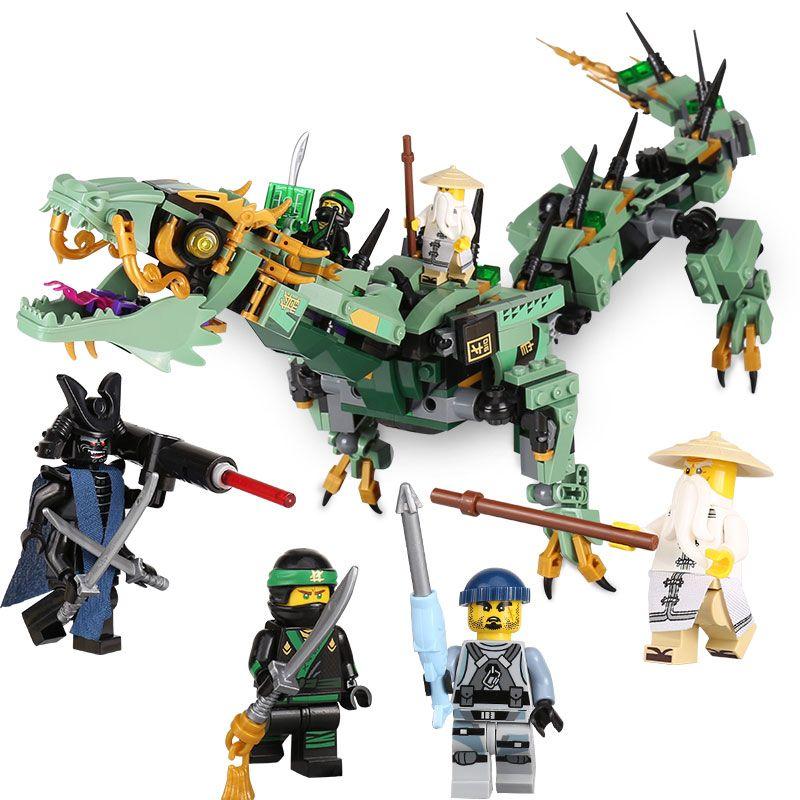 592pcs Movie Series Flying mecha dragon Building Blocks Bricks Toys Children <font><b>Model</b></font> Gifts Compatible With LegoINGly NinjagoINGly