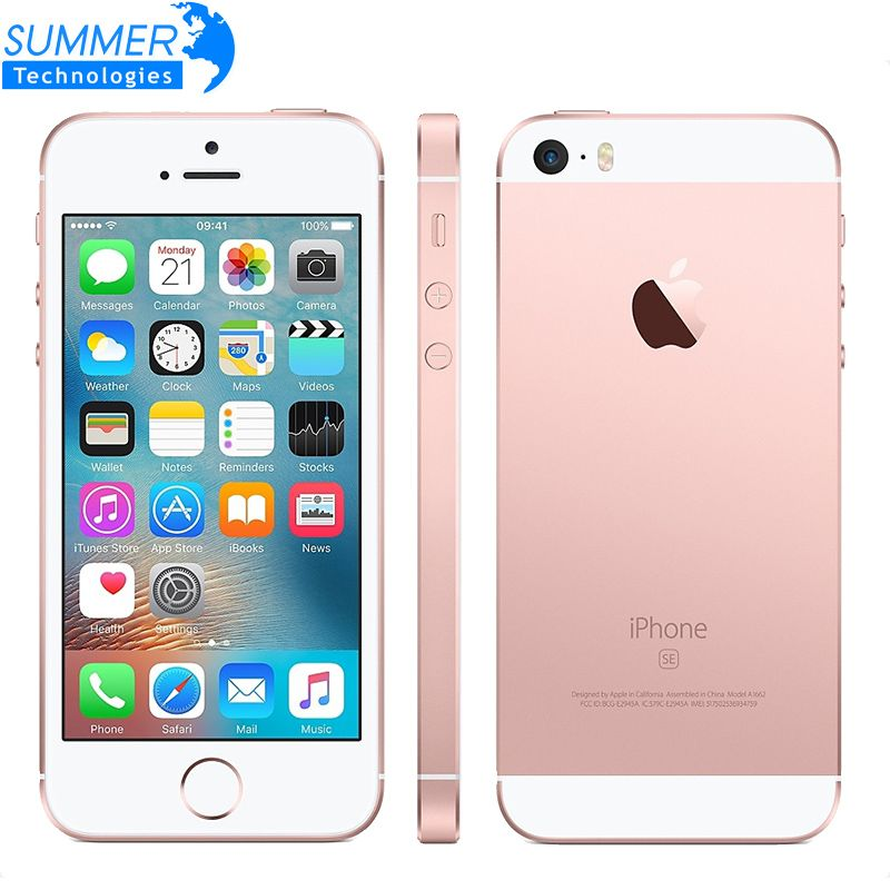 Original Apple iPhone SE <font><b>Unlocked</b></font> Mobile Phone A9 iOS 9 Dual Core 2GB RAM 16/64GB ROM 4.0'' 12MP Fingerprint 4G LTE Smartphone