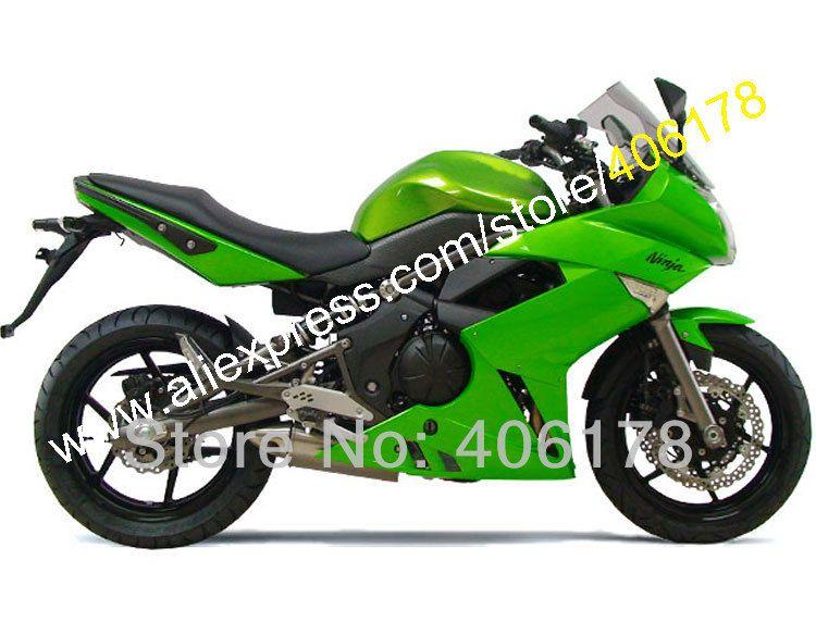 Hot Sales,Green fairing set for Kawasaki Ninja 650r ER-6f 2009 2010 2011 fairings kits 09 10 11 er6f ER 6F 650R custom paint