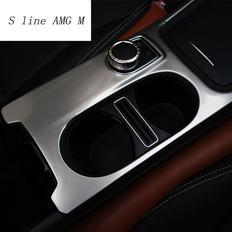 Car Styling Water Cup Holder Trim Covers Stickers Interior RHD LHD Accessories for Mercedes Benz A GLA CLA Class W176 X156 C117