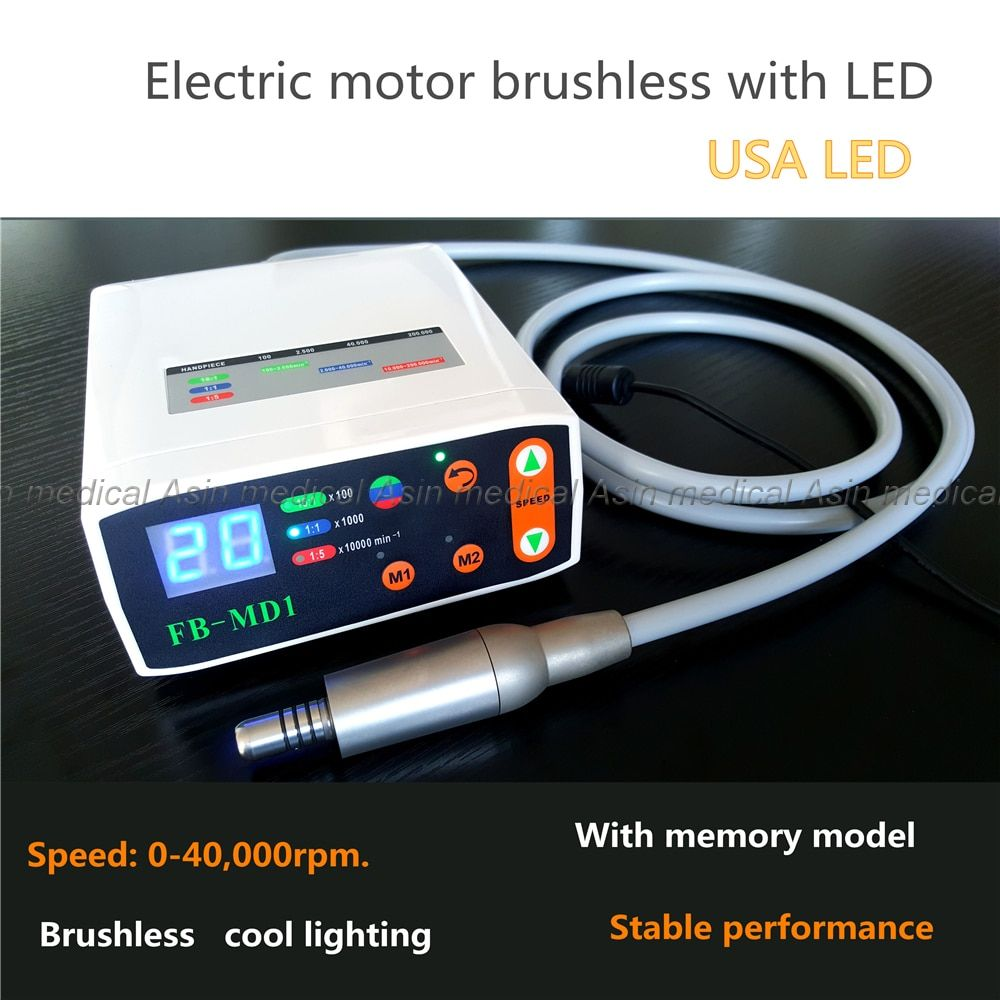 2017 NEW Dental Micromotor Oral Material LED Brushless Mini Electric micro motor System With memory function