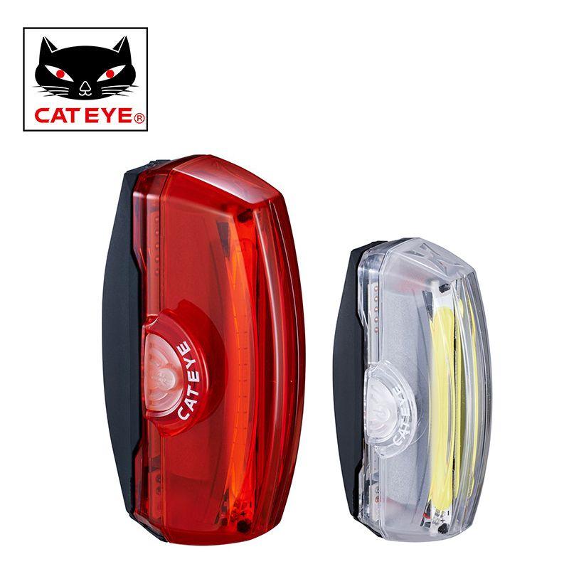 CATEYE Fahrrad Rücklicht Usb-wiederaufladbare LED Bike Schwanz Rohr Hinten Licht MTB Mountain Road Bike Warnung Lampe Radfahren Zubehör