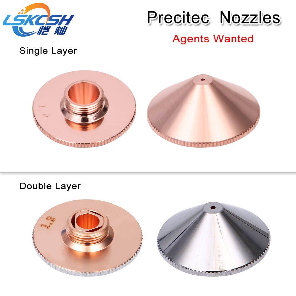 LSKCSH Precitec/WSX Einzel/doppel schicht düse Dia 28mm Kaliber 0,8-5,0mm ähnlich P0591-571-00010 precitec kopf agenten gesucht