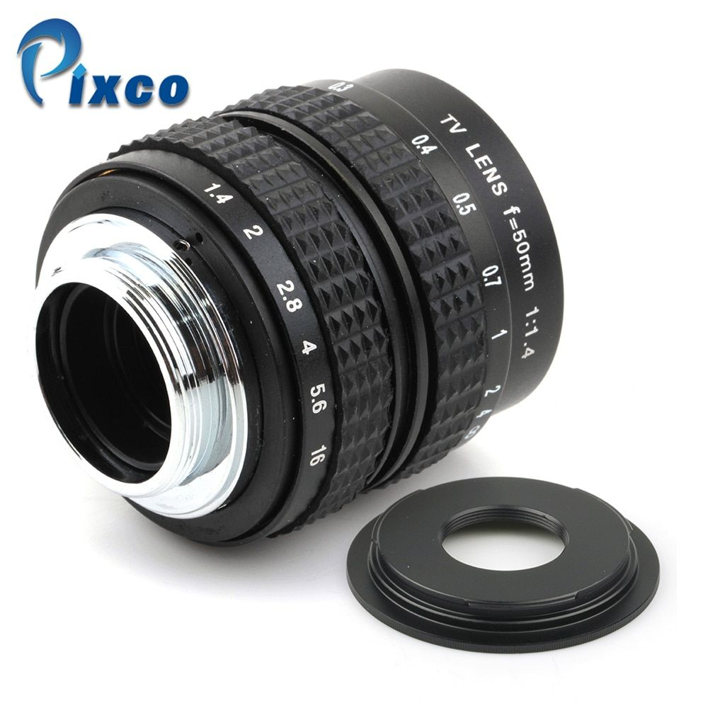 50mm f1.4 C mount Lens + C-Micro M4/3 /NEX /N1 /for Pentax Q /Fuji /M M2 Adapter Ring For Sony Pentax Camera