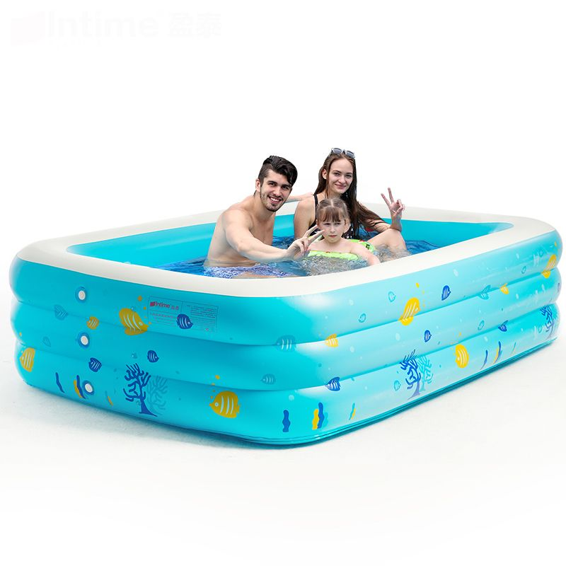 Free shipping ! intime Child Swimming Pool Adult Baby Swimming Pool Baby Inflatable Swimming Pool Ultra-large Thickening pool