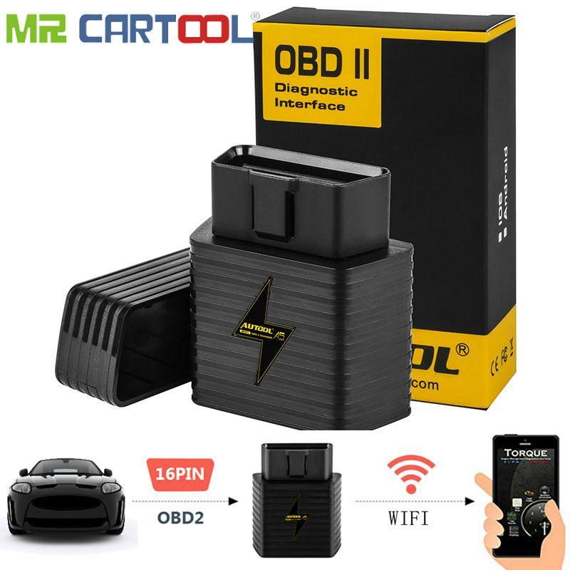 A5 OBD2 adaptateur Auto Scanner WIFI Bluetooth ELM327 1.5 V voiture OBDII pour Android IOS moteur Code lecteur Diagnostic outil de numérisation