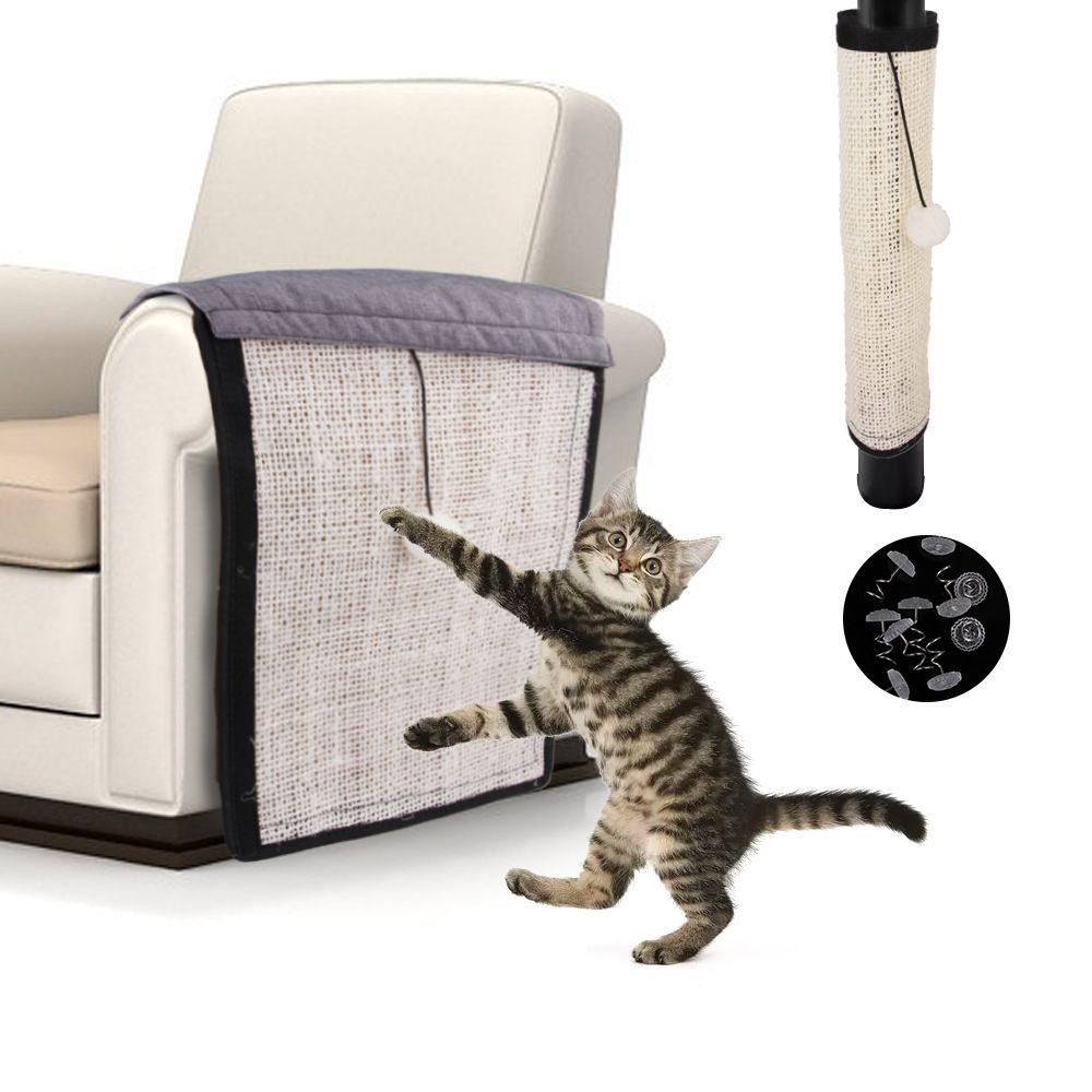 Animal de compagnie chat Scratch garde tapis Sisal jouet chats gratter Post meubles canapé griffe protecteur tampons pour Table chaises canapé jambes main courante