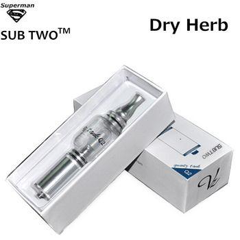 SUB TWO Q2 Water Pipe Dry Herb High Quality Vaporizer Glass Atomizer Q2 Pyrex Glass Water Bubbler E Cigarette Vape Pen Kit