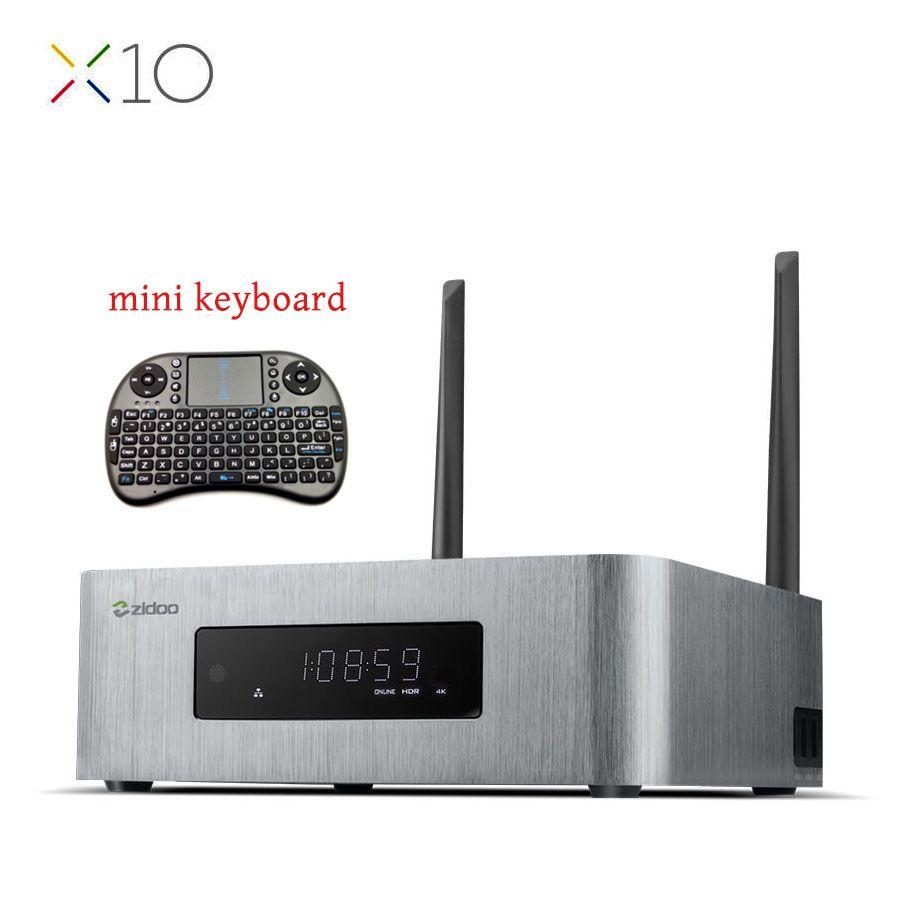 ZIDOO X10 Andoid 6.0 Smart TV Box Double Système Quad Core 2G/16G double Bande WIFI 1000 M LAN HDR USB 3.0 SATA 3.0 Media Player
