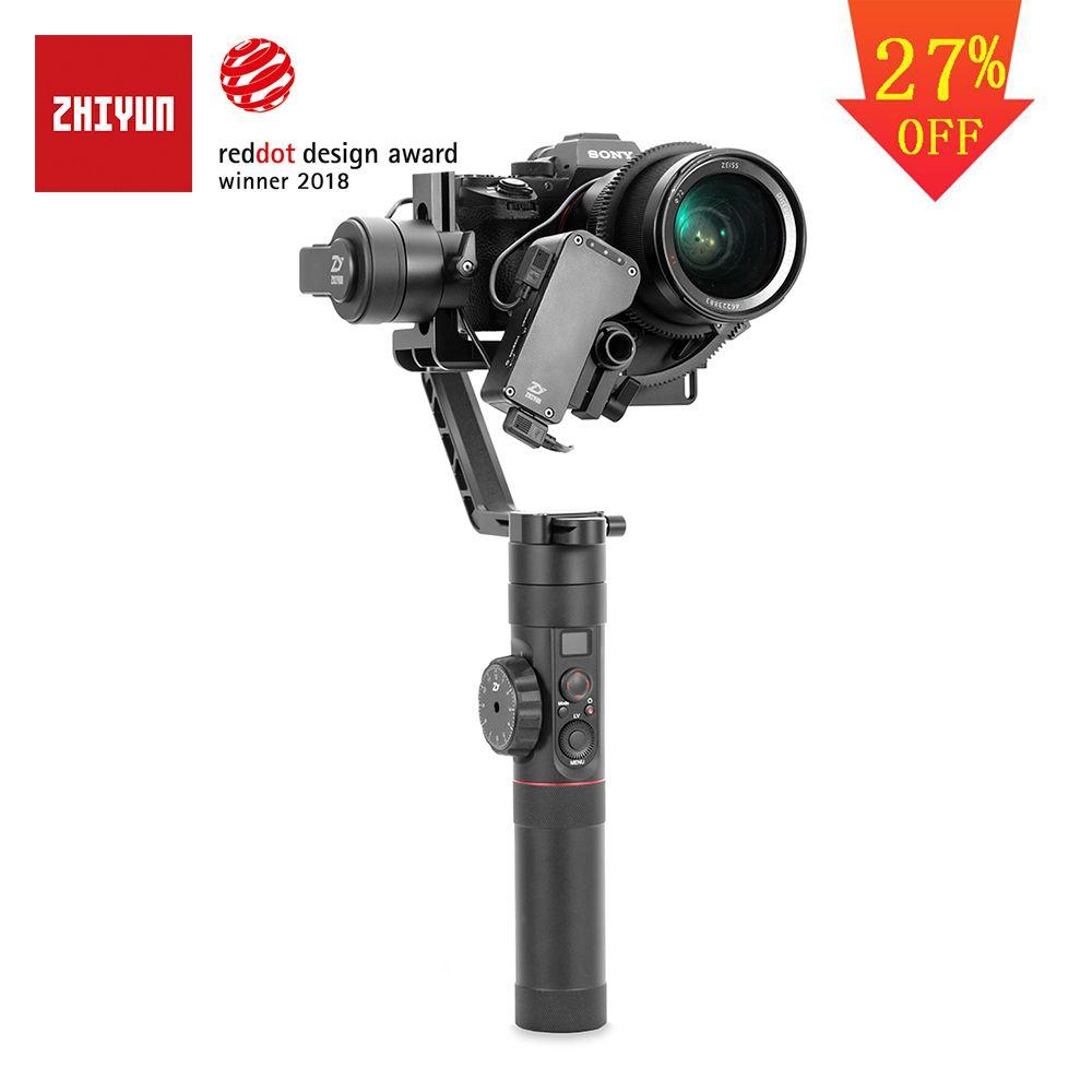 ZHIYUN Offizielle Kran 2 3-Achsen Gimbal Stabilisator für Alle Modelle von DSLR Spiegellose Kamera Canon 5D2/3 /4 mit Servo Folgen Fokus
