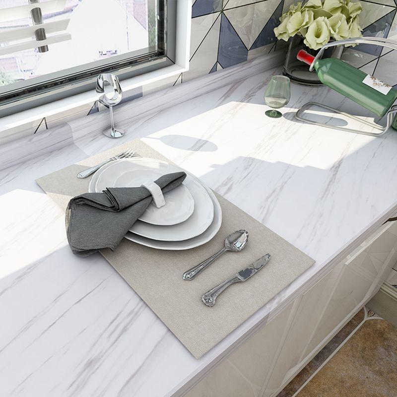 Papier peint auto-adhésif en marbre papier de Contact amovible pour comptoirs de cuisine papier peint de salle de bains salon
