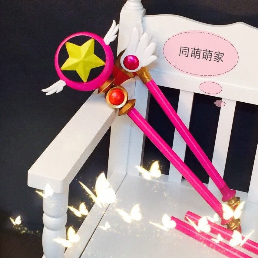 CARDCAPTOR SAKURA Card Captor Sakura Birdhead Star Magic Stick Wand Staves Cosplay Accessorie Porp