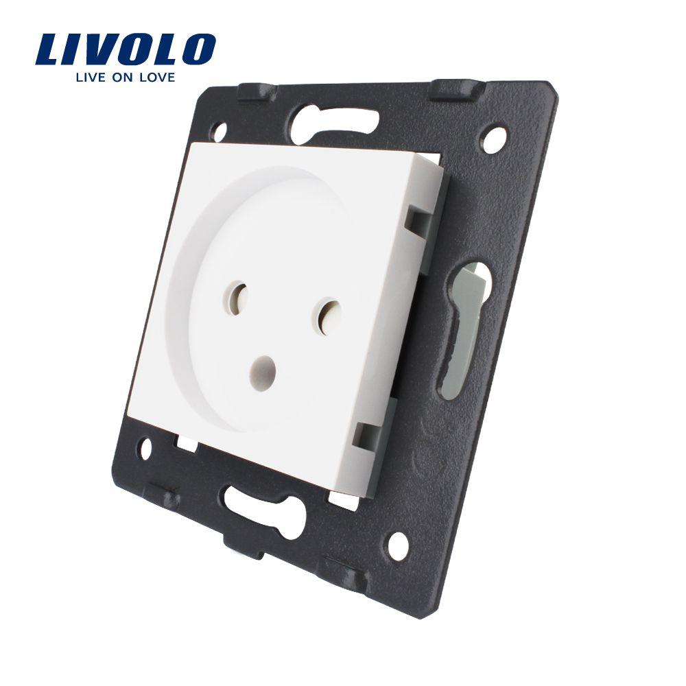 Livolo DIY Teile, EU Standard Israel Steckdose, AC 100 ~ 250 v 16A Wand Steckdose, c7-C1IL-11, ohne die glas panel.