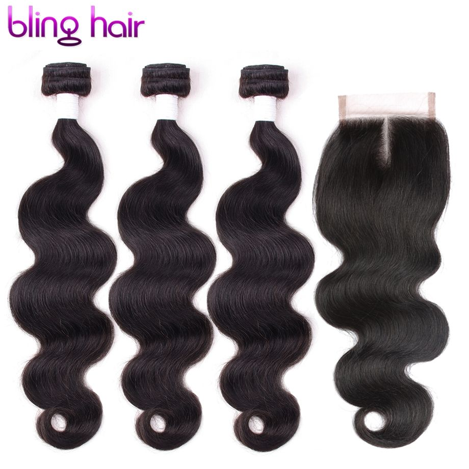 Blinghair Peruvian Body Wave Bundles With Closure Remy Hair Lace Frontal closure with bundles peruvian hair bundles with frontal