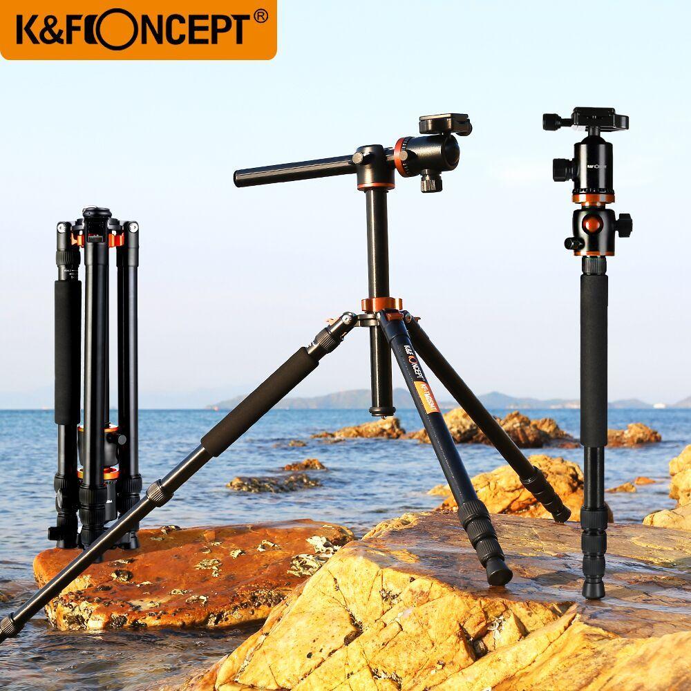 K&F CONCEPT Professional 4 section Alloy Tripod For Camera Portable Monopod Tripod For Digital/Video Canon Nikon Sony Camera