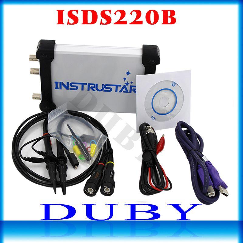 ISDS220B 4 IN 1 Multifunctional PC USB virtual Digital oscilloscope+Spectrum <font><b>Analyzer</b></font>+DDS+Sweep signal generator 60M 200MS/s