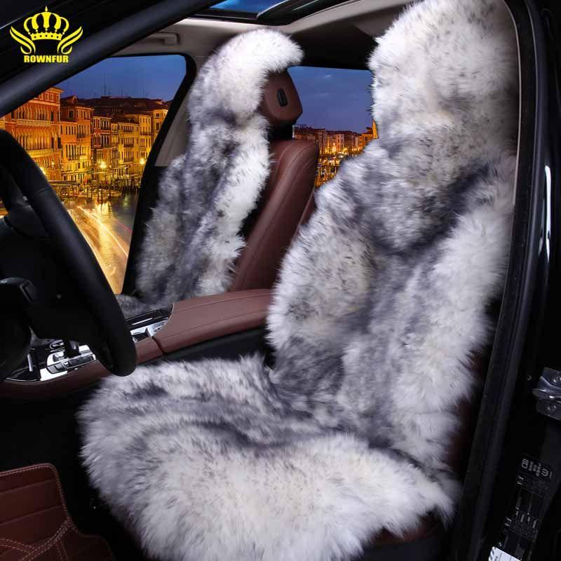 100%Natural fur Australian sheepskin car seat covers universal size,6 colors,Long Hair for car lada granta for car kalina priora