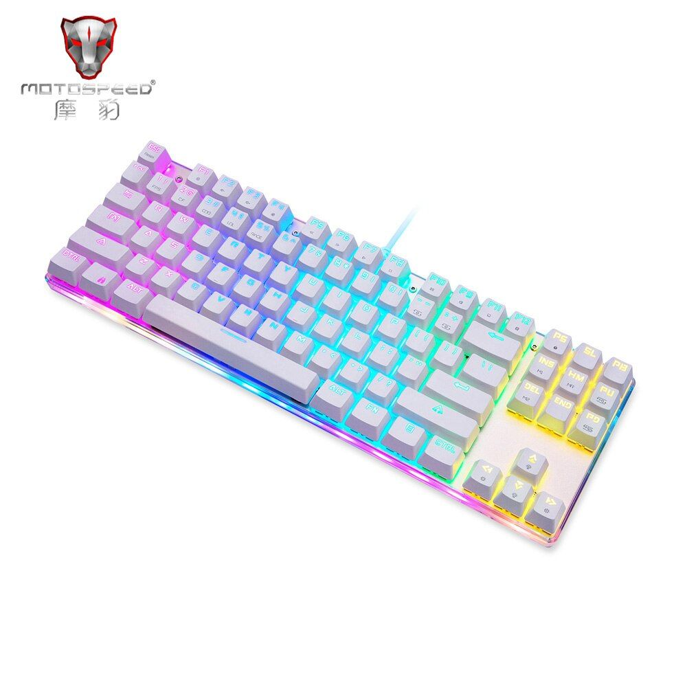 Motospeed K87S NKRO Ergonomic Mechanical Keyboard with RGB Backlit Anti-ghosting 87 Keys Programmable Blue switch Plug and play