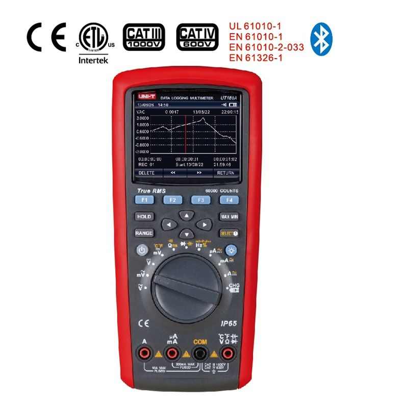 Uni-T UT181A Digital Multimeter True Rms Tester Datenaufzeichnung Gehören DMM Cap Temp Meter UT-181A