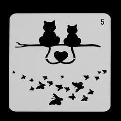 Chats Papillon Superposition Pochoirs Pour Murs Peinture Scrapbooking Stamping Timbres Album Décoratif Gaufrage Papier Cartes