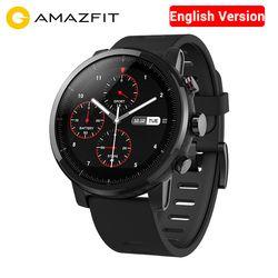 Anglais Version AMAZFIT Montre 2 Strato Intelligents Sport Montre Bluetooth GPS 512 MB/2 GB 5ATM Étanche 1.34
