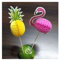 NOUVEAU 10 PC/ENSEMBLE Stéréo Ananas Flamingo Fruit Cure-Dents Fleur Connexion Décoration De Mariage Partie Décoration De Pâques Décoration. B