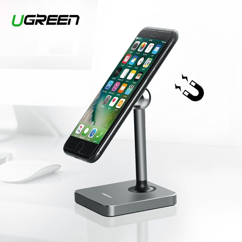 Ugreen Magnetic Tablet Holder Magnet Cell Phone Holder Mount Desk Holder Stand for iPhone 8 iPad Samsung Galaxy S9 Phone Holder