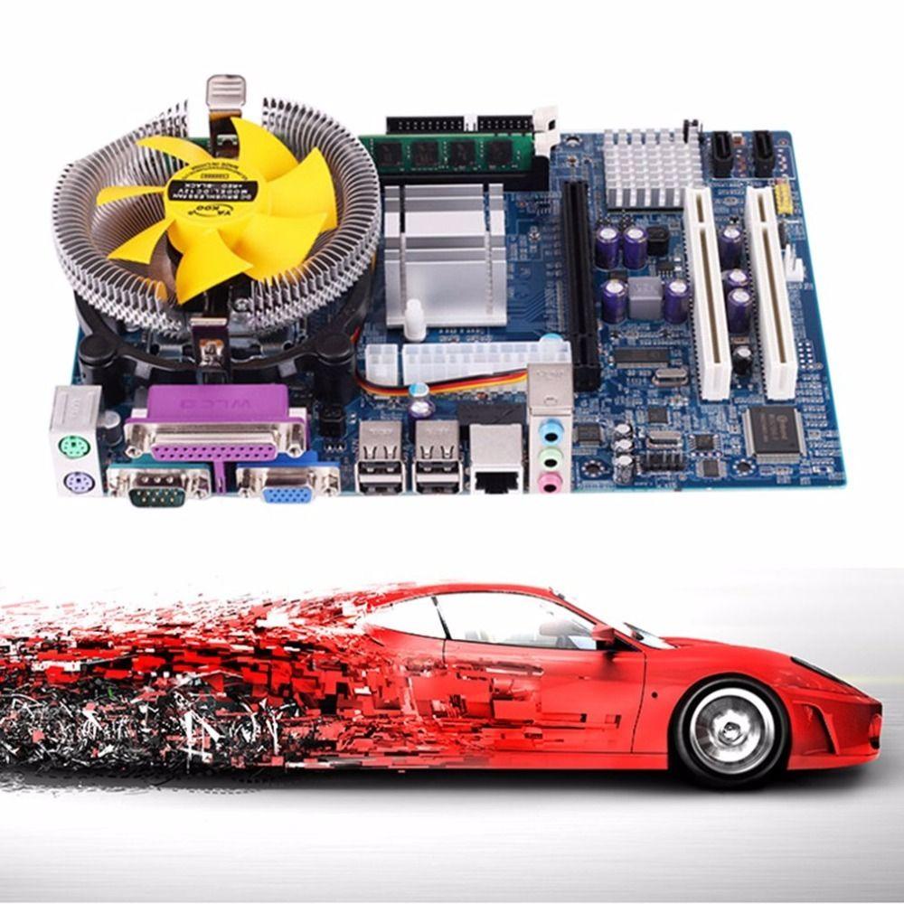 Motherboard CPU Set mit Quad Core 2,66G CPU i5 Core + 4G Speicher + Fan ATX Desktop Computer Mainboard Montieren Set Tropfen verschiffen