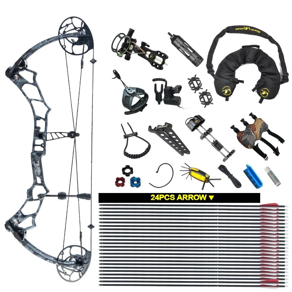 TOPOINT ARCHERY Compound Bow Package TS350 26.5