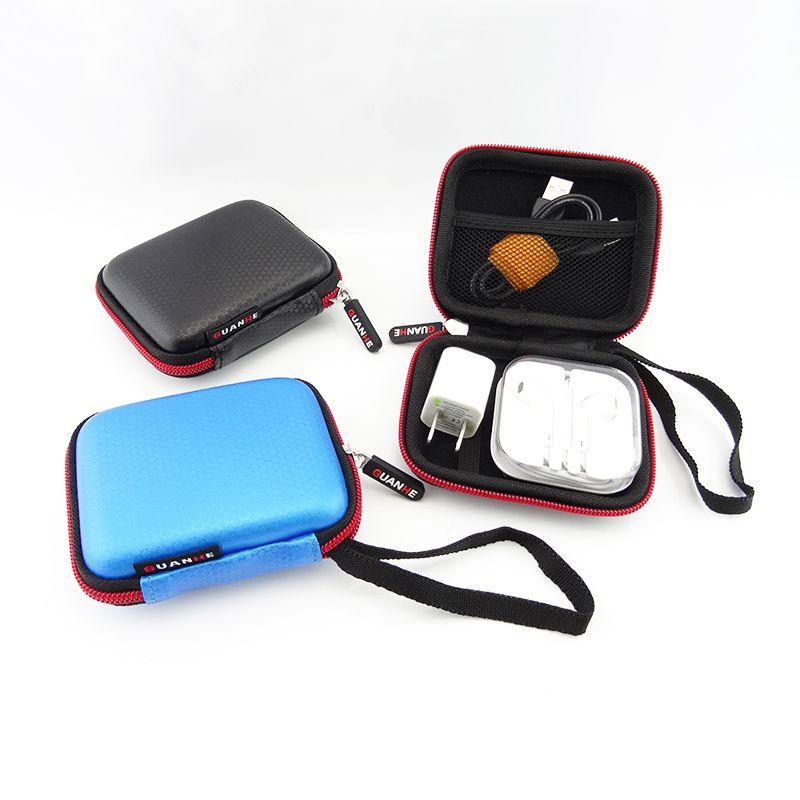 Mini carré numérique accessoires voyage sac de rangement pour écouteurs U disque USB données câble chargeur Portable électronique Gadget poche