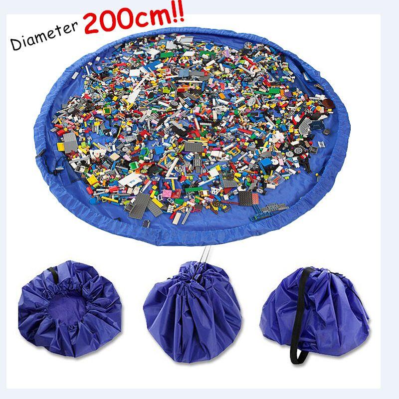 Portable 78 pouces grand tapis de jeu pour enfants tapis de jeu multi-fonction voiture jouets sac de rangement organisateur famille pique-nique jouer tapis 200 CM