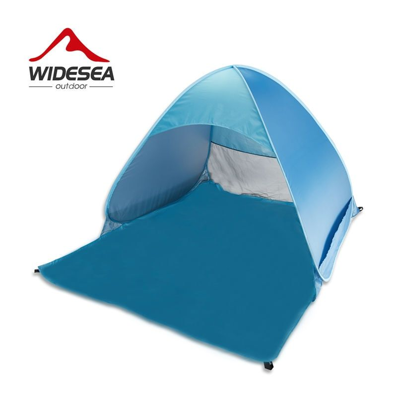 Widesea pop up open beach tent 2-3 person sunshelter mash up color UV-protect quick automotic open for outdoor fishing camping