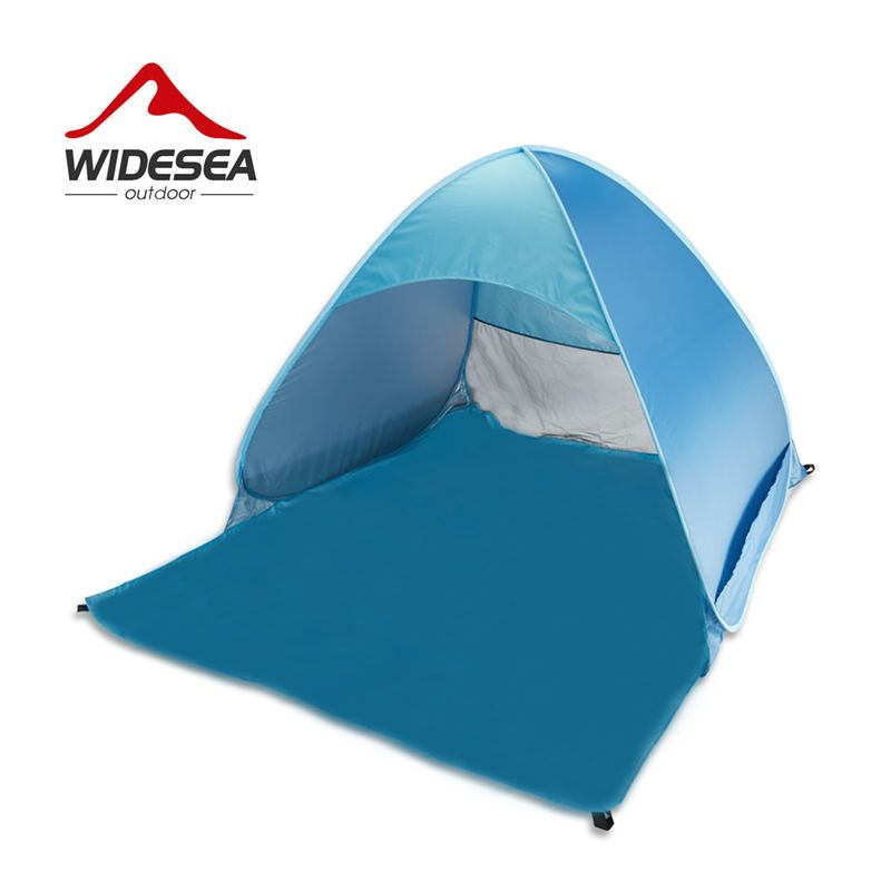 Widesea pop up open beach tent 2-3 person sunshelter mash up color UV-protect quick <font><b>automotic</b></font> open for outdoor fishing camping