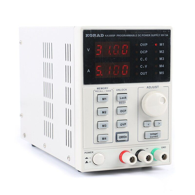 Laboratory Power KORAD 3005P Programmable Adjustable Digital DC power supply 30V 5A 0.01V/0.001A for Laboratory testing repair