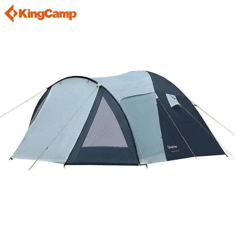 KingCamp week-end série Portable Durable étanche respirant 2 3 4 personnes famille Camping dôme tente avec salle d'écran