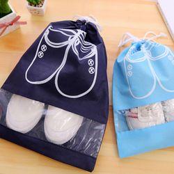 2 tamaños impermeable zapatos bolsa de almacenamiento bolsa de viaje portátil de bolsillo Organizador no tejido lavandería Organizador