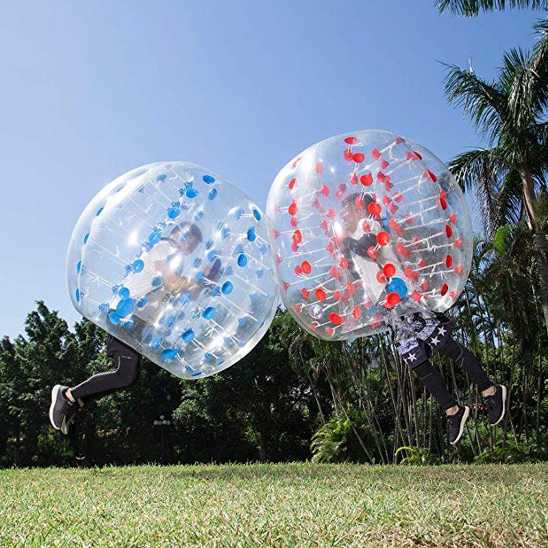 Großhandel Freies Verschiffen 1,0mm TPU Aufblasbare Zorb Ball 1,5 m Blase Fußball Ball Luft Stoßstange Ball Blase Fußball Für erwachsene