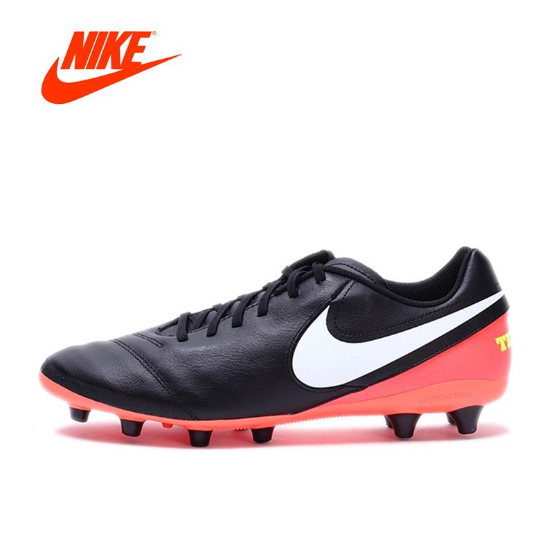 Original NIKE New Arrival TIEMPO GENIO II LEATHER AG-PRO Men's Football Shoes Soccer Shoes Sneakers