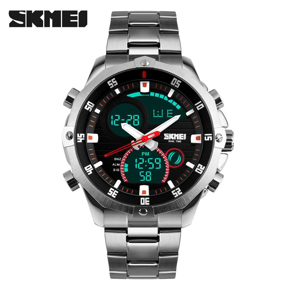 SKMEI <font><b>2016</b></font> New Watches Men Luxury Brand Fashion Casual Business Sports Wrist watches Dual time Digital Analog Quartz Watch