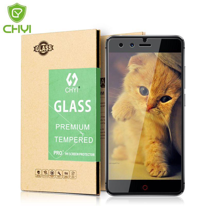 Chyi marca para ZTE Nubia z11 protector de pantalla de cristal templado ZTE Nubia z11 mini s vidrio Flim 9 h 0.26mm