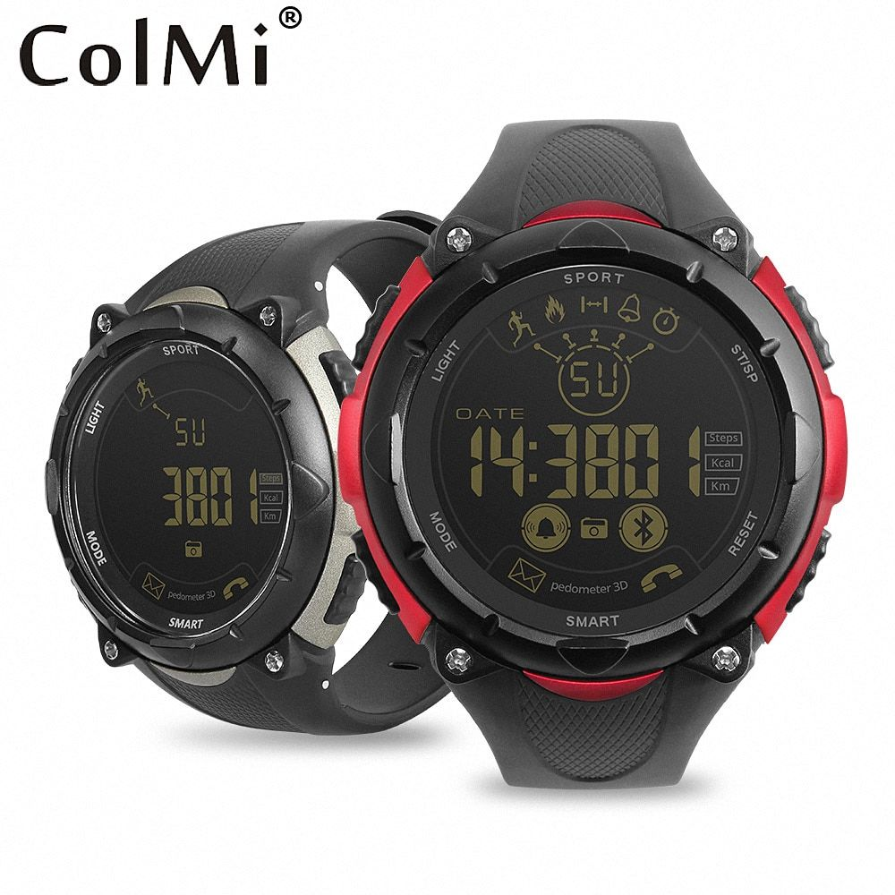 ColMi S7 Smartwatch 50 Meter Waterproof Standby 33 Months 24-hour Sport Monitoring For Android iOS Brim Men Smart Watch